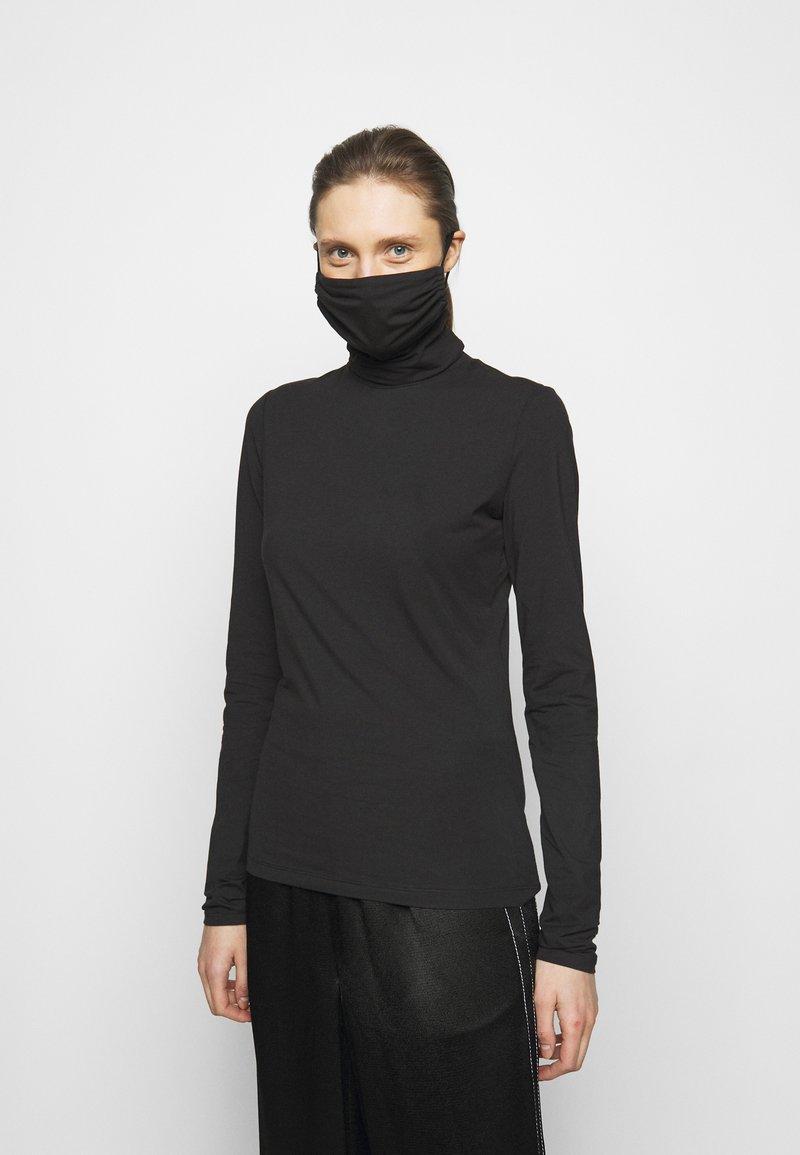 Proenza Schouler White Label - SHEER STRETCH TNECK MASK - Pitkähihainen paita - black