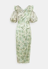 Never Fully Dressed - MARBLE COLD SHOULDER MIDI WRAP - Cocktailklänning - green - 3