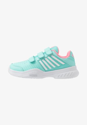 COURT EXPRESS STRAP OMNI UNISEX - Multicourt tennis shoes - aruba blue/soft neon pink/white