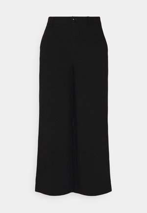 Wide cropped leg pants - Bukse - black