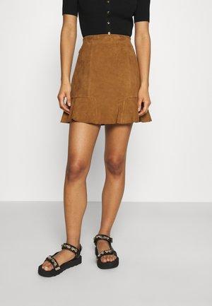 JENDRIE - Mini skirt - camel