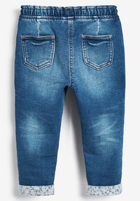 Next - GREY FRILL POCKET PULL-ON JEANS (3MTHS-7YRS) - Straight leg jeans - blue - 1