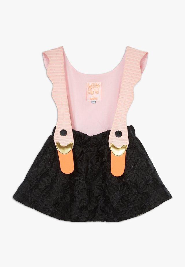 BIRD GIRL PINK STRIPES DRESS - Vapaa-ajan mekko - black/pink