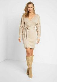 ORSAY - MIT BINDEGÜRTEL - Shift dress - autumn beige - 1