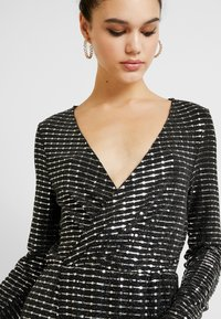 Object - Cocktailklänning - black/silver sequince - 5