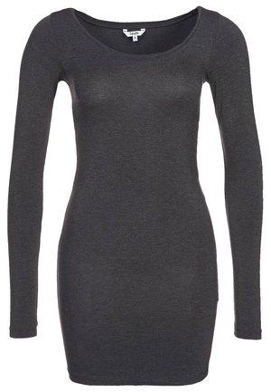 ANNA - Long sleeved top - dark grey melange