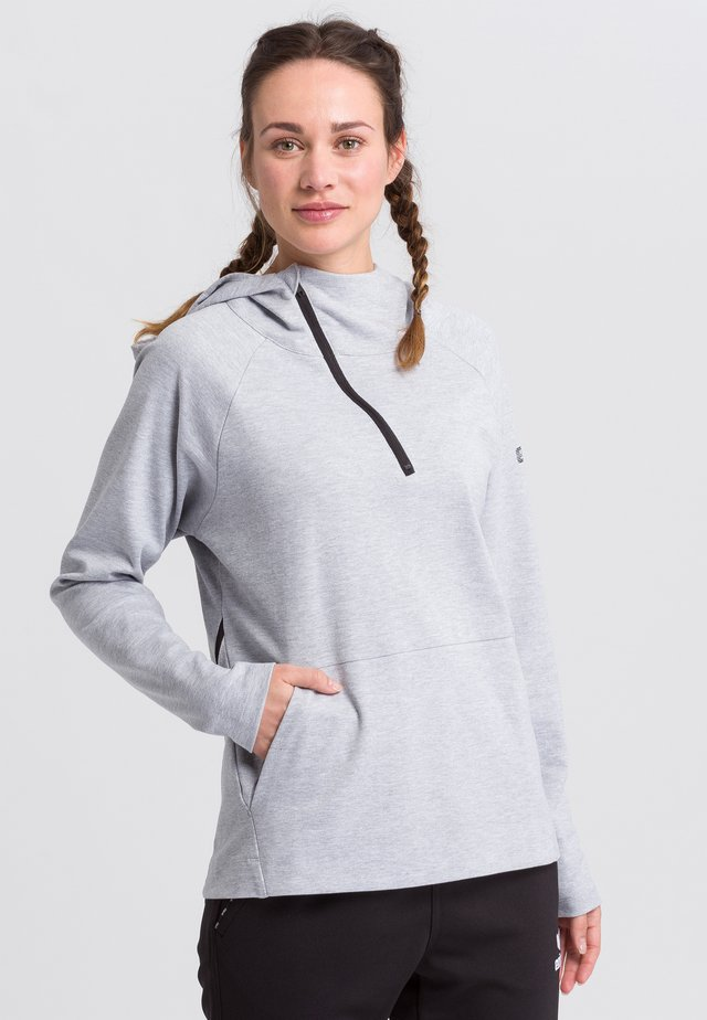 Hoodie - light gray/black