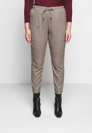 CARMING ANKEL PANT - Trousers - black/black check
