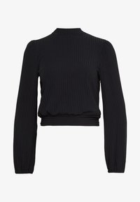 New Look - CARLEY RIB TIE TOP - Blouse - black - 3