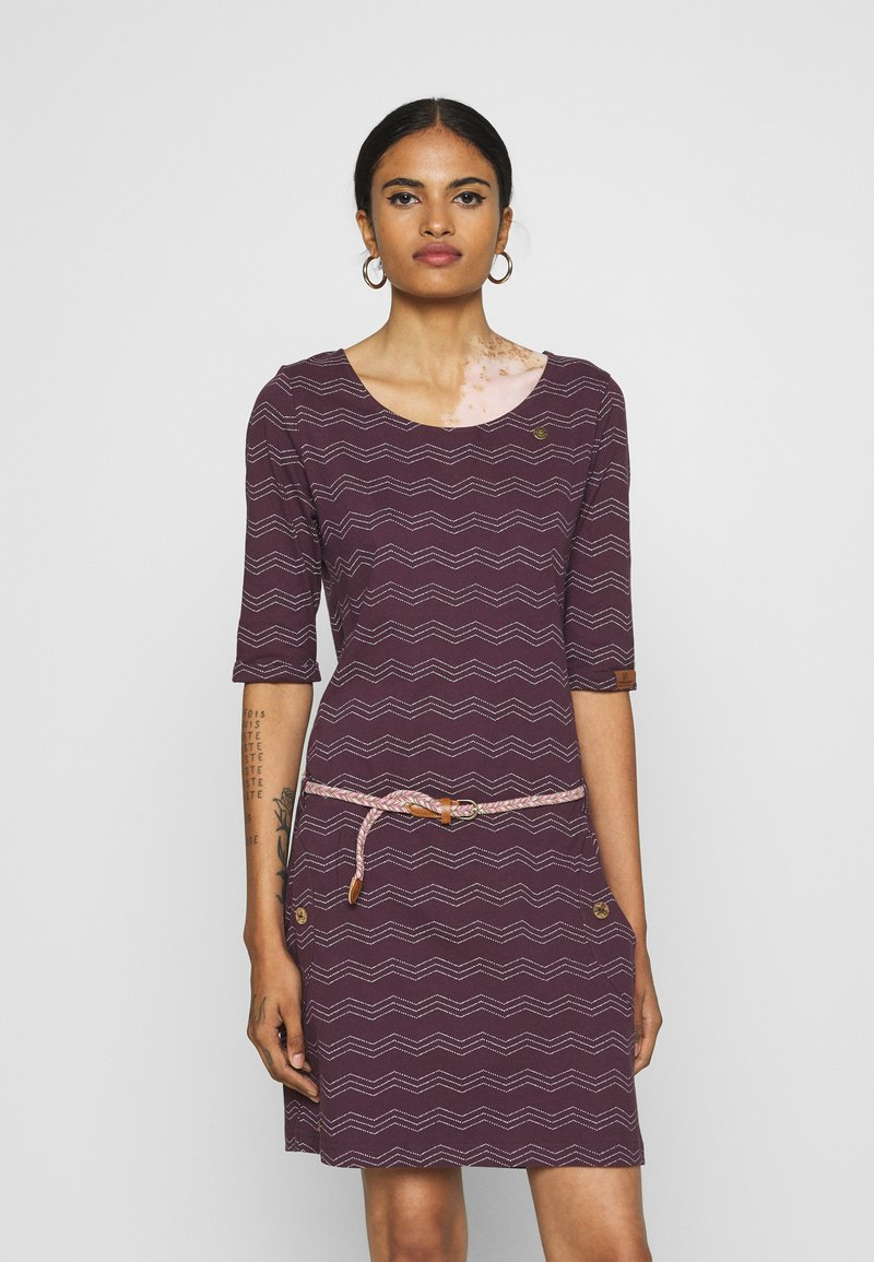 Ragwear - TANYA  - Jersey dress - wine red