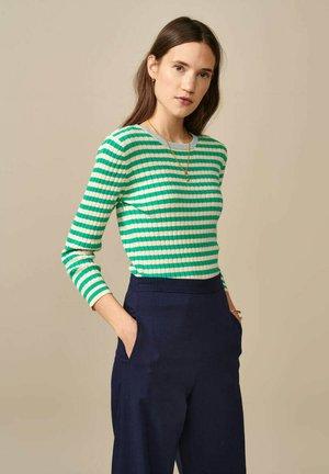 Long sleeved top - grün weiß gestreift