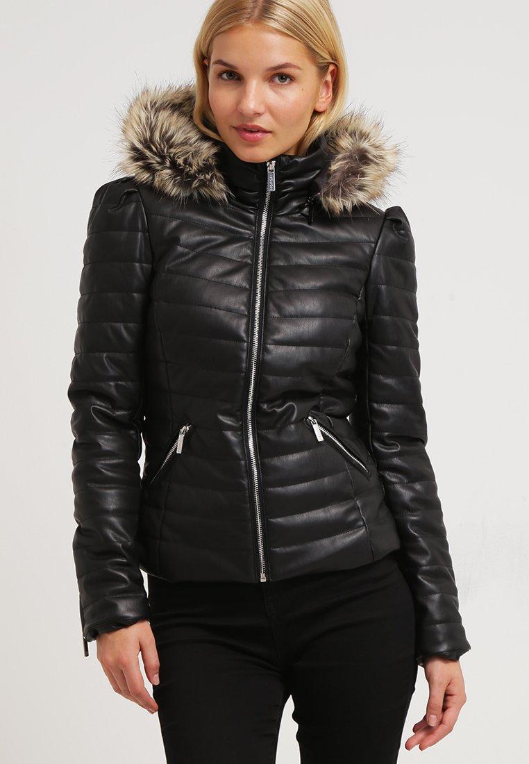 Morgan - CRAIE - Faux leather jacket - noir