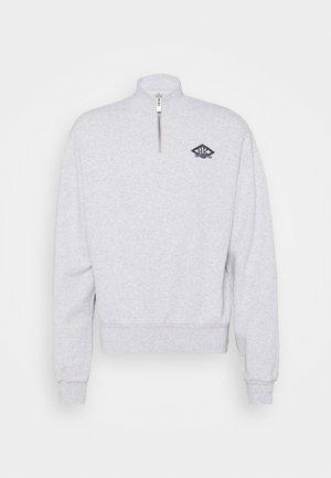 HALF ZIP - Sweatshirt - grey melange/black