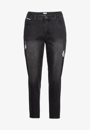 Relaxed fit jeans - black denim