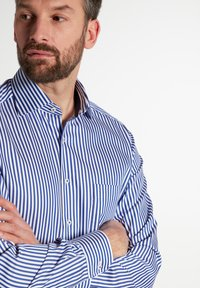Eterna - MODERN FIT - Shirt - blau/weiß - 2