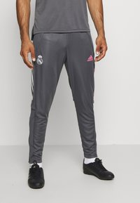 adidas Performance - REAL MADRID AEROREADY SPORTS FOOTBALL PANTS - Club wear - grey - 0
