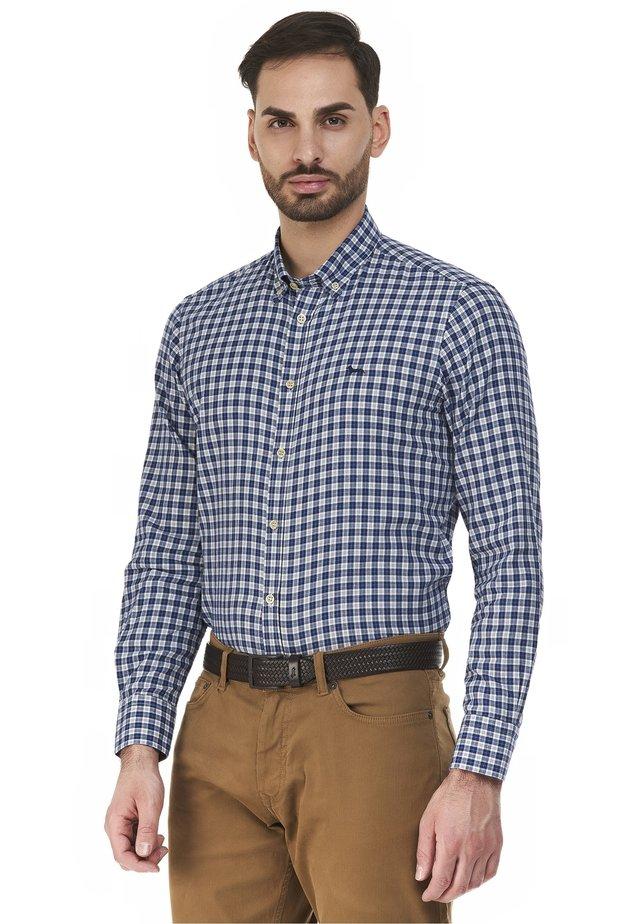 Zakelijk overhemd - blu reale screziato