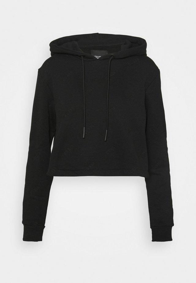 HOODED  - Sweatshirt - jet black