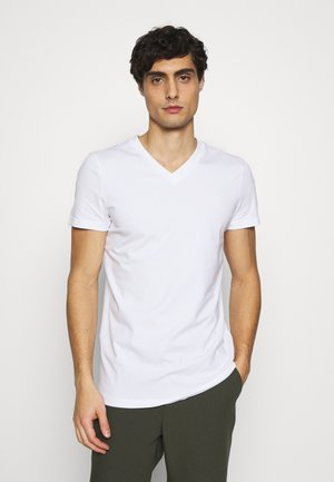 V NECK  - Basic T-shirt - white