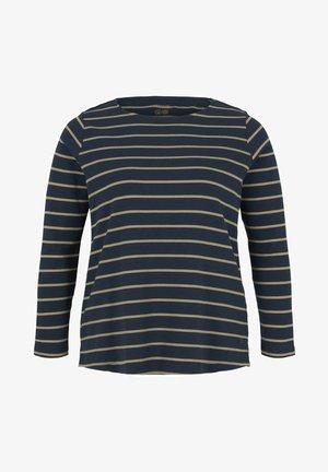 MIT BIO BAUMWOLLE - T-shirt à manches longues - navy beige stripe