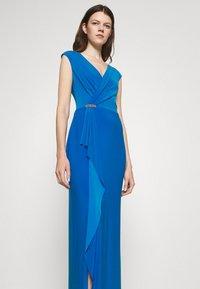 Lauren Ralph Lauren - RYDER CAP SLEEVE EVENING DRESS - Vestido de fiesta - deep bondi blue - 3