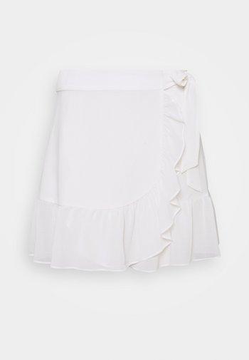 FRILL SKIRT - Mini skirt - white