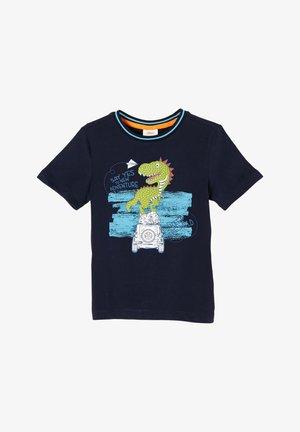 DINO MOTIV - Print T-shirt - dark blue