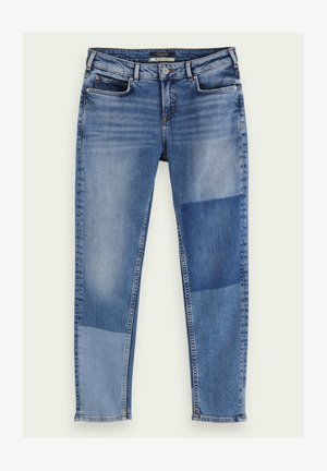 THE KEEPER - Slim fit jeans - city patchwork