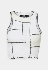 PANELLED HIGH NECK SINGLET - Top - multi