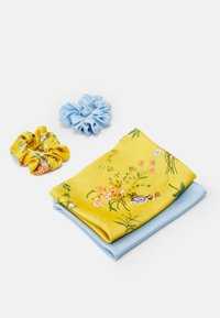 Pieces - PCREMYBOW SCRUNCHIE 2 PACK - Hair styling accessory - airy blue/yellow - 1
