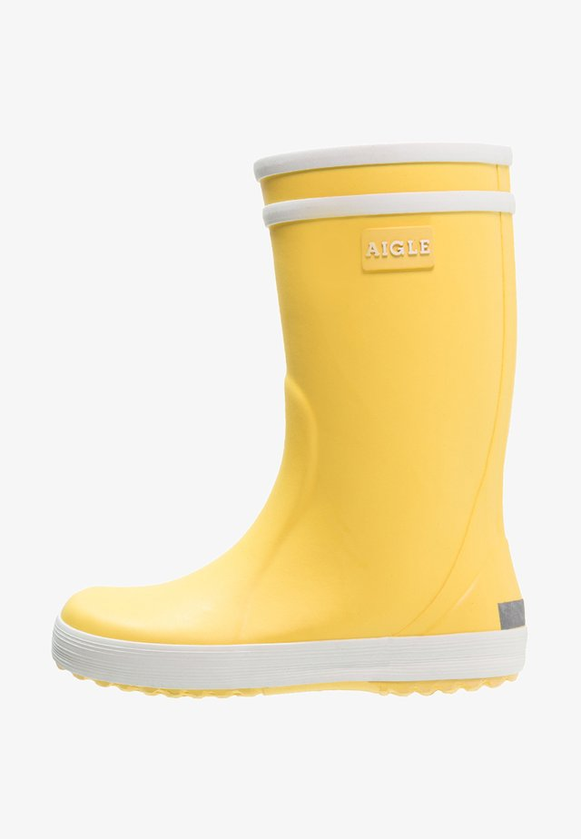 LOLLY POP - Gummistiefel - jaune/blanc