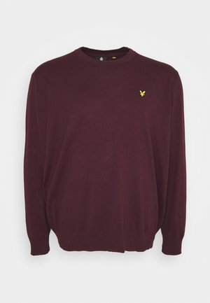 PLUS CREW NECK JUMPER - Jumper - burgundy