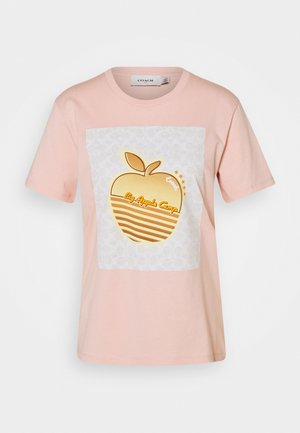 APPLE GRAPHIC  - Print T-shirt - pale pink