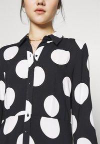 YAS - YASSAVANNA DOT LONG SHIRT DRESS - Maxi dress - black/white - 5