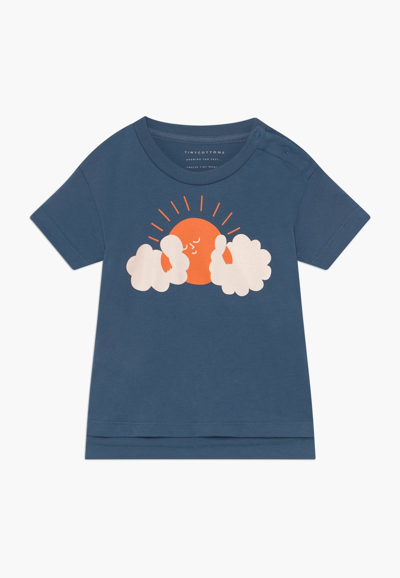 TINYCOTTONS - SUN TEE - Print T-shirt - summer navy/brick