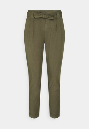 PAPERBAG PANTS - Trousers - khaki green