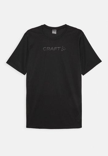 CORE ESSENCE TEE  - T-shirt med print - black