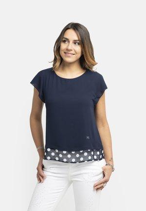 T-shirt con stampa - blu
