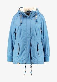 Ragwear Plus - DANKA MINIDOTS COAT - Kåpe / frakk - blue - 4
