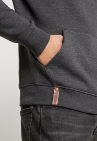 INDICODE JEANS - NEVILLY - Sweat à capuche - charcoal mix - 5