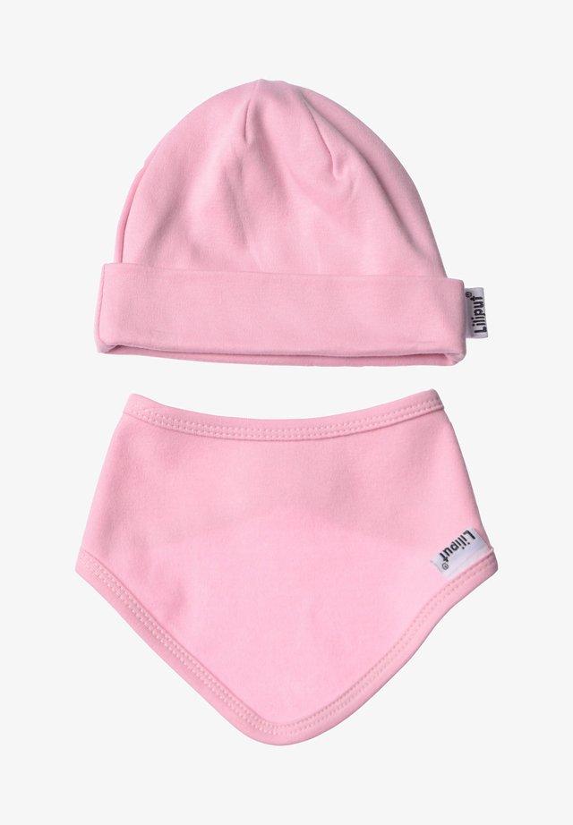 2ER-SET Mütze und  - Scarf - rosa