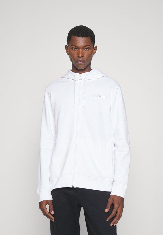 DINORO METALLIC UNISEX - Zip-up hoodie - white