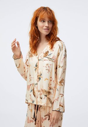 BIRD PRINT  - Pyjama top - beige