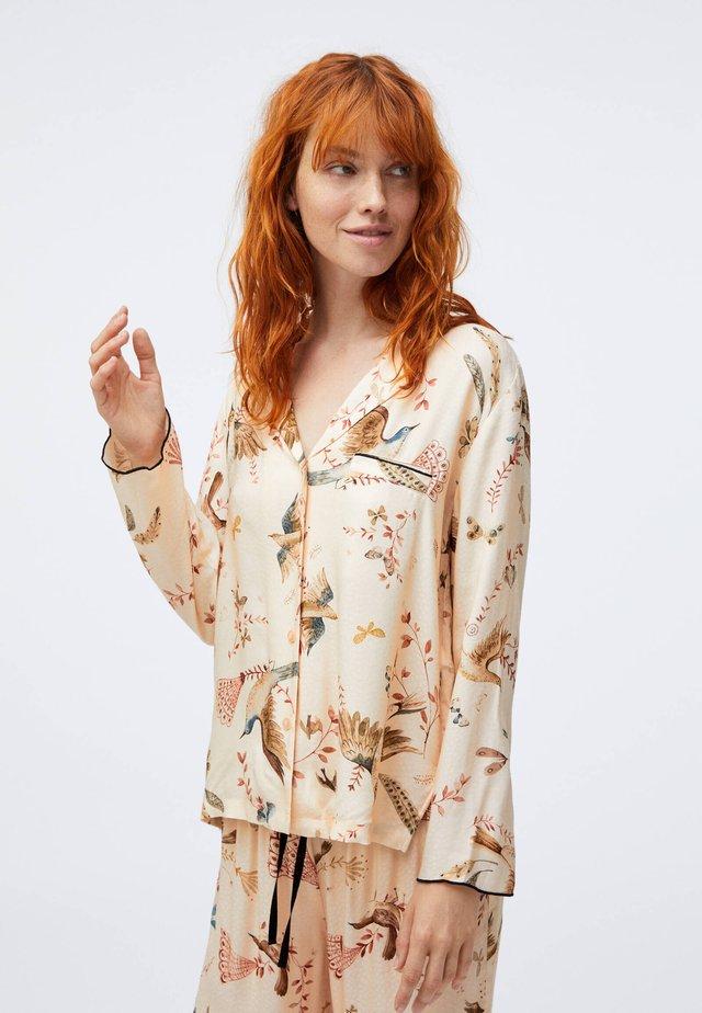 BIRD PRINT  - Pyžamový top - beige