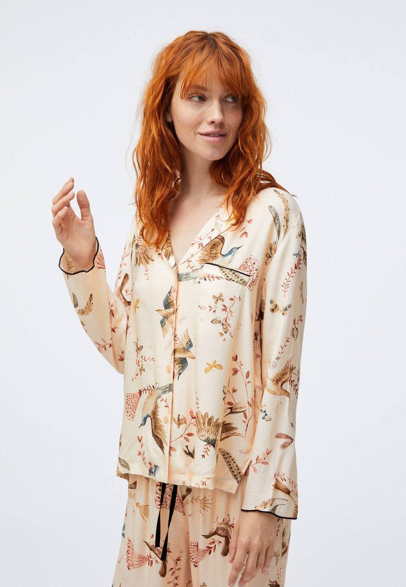 OYSHO - BIRD PRINT  - Nattøj trøjer - beige