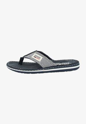 RIEKER 21089  - T-bar sandals - navy-white-baltic