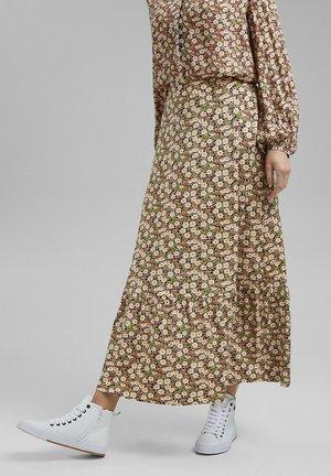 Pleated skirt - light khaki