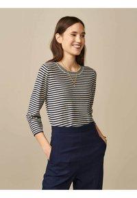 Bellerose - GOPS - Sweatshirt - ecru blau gestreift - 0