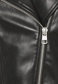 Calvin Klein Jeans - BIKER HOODED JACKET - Faux leather jacket - black - 3
