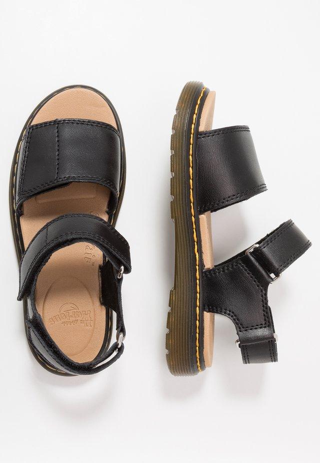 ROMI - Sandaalit nilkkaremmillä - black